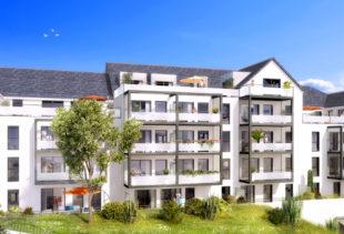 Vue de synthèse de la résidence Les Reflets de Saint-Goustan à Auray par Immo Golfe Bretagne