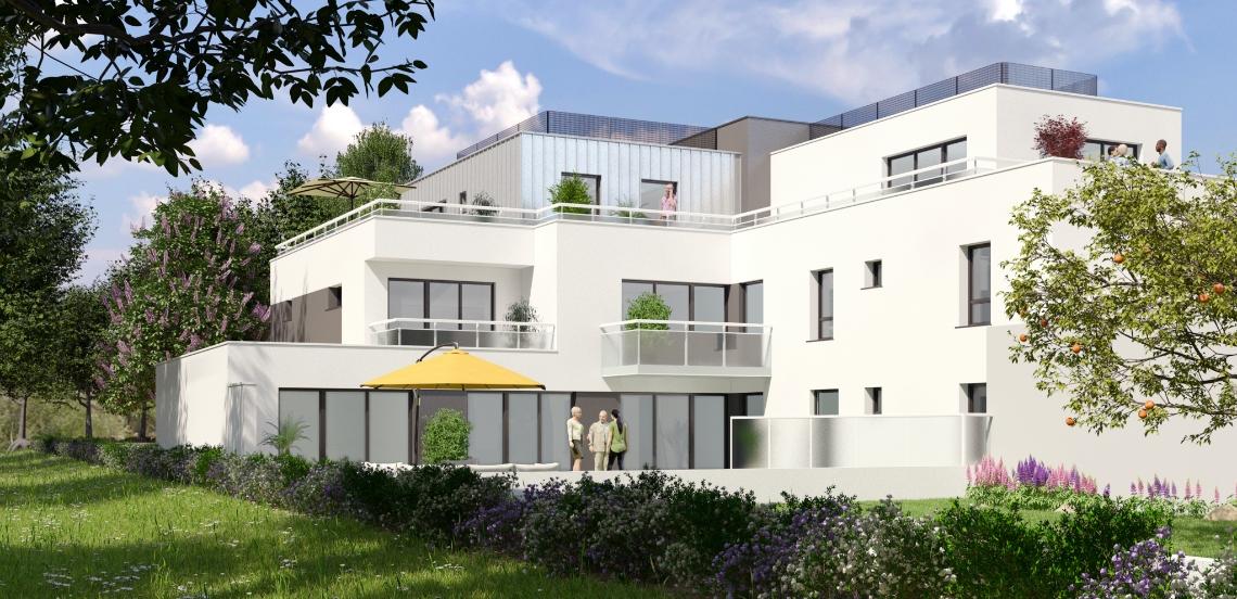 Vue de synthèse de la résidence Le 40 à Vannes par Immo Golfe Bretagne