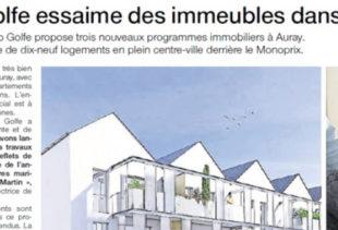 Numérisation d'un article sur le promoteur immobilier Immo Golfe Bretagne du Ouest-France du 29 avril 2016