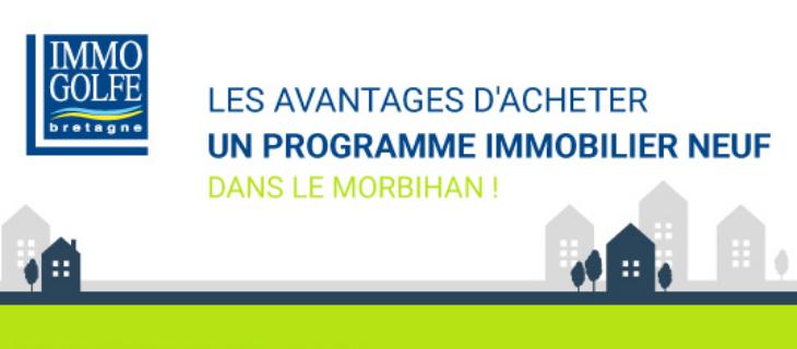 """Bannière d'Immo Golfe Bretagne pour l'infographie """"Les avantages d'acheter un programme immobilier neuf dans le Morbihan"""""""