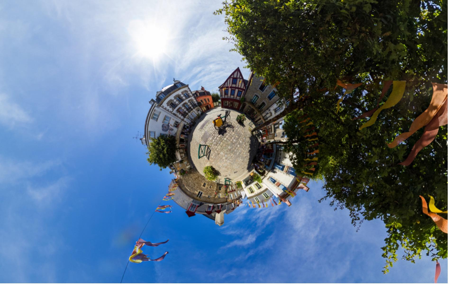 Photographie du centre ville d'Auray dans le Morbihan