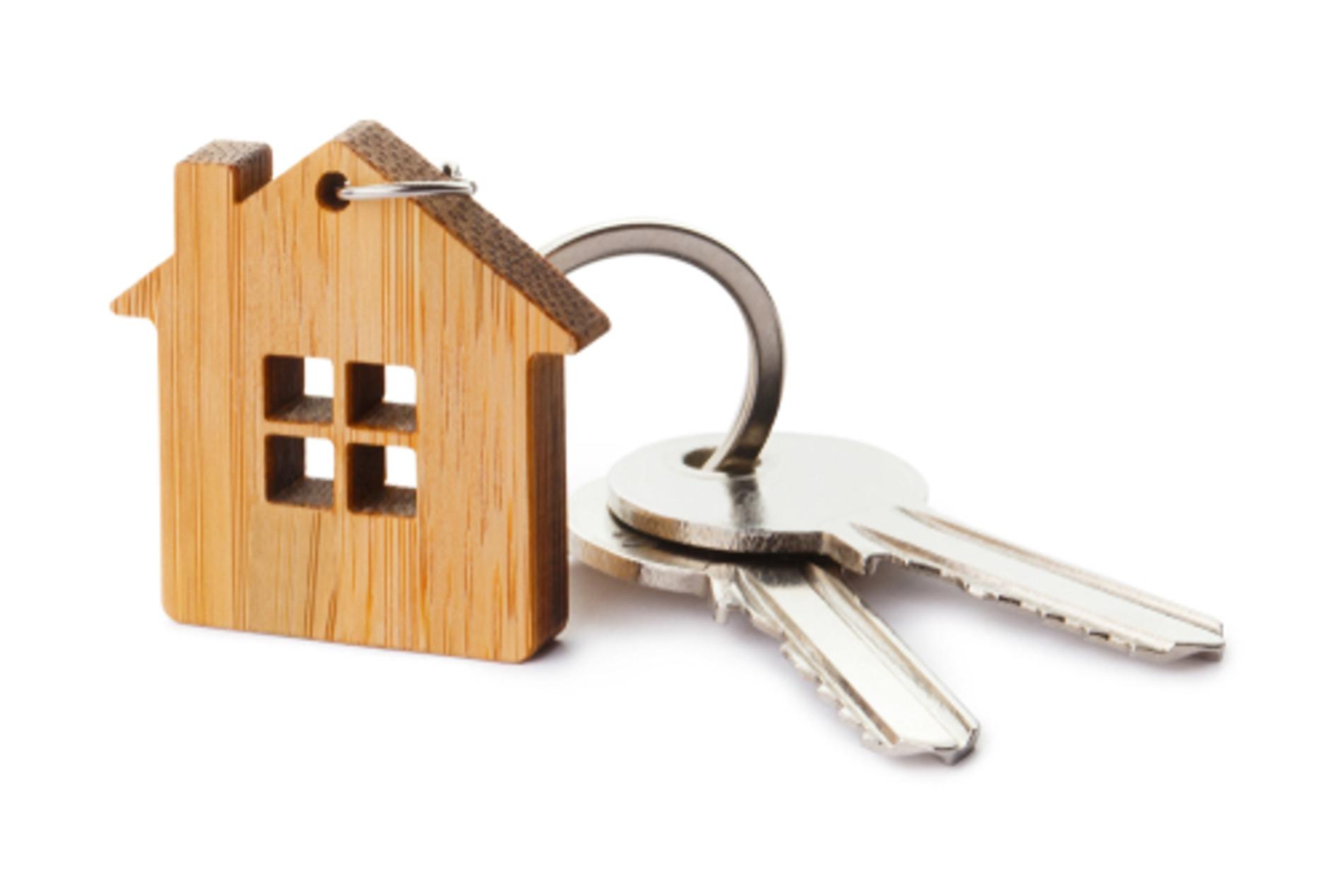 Image d'illustration représentant un porte clé en forme de maison
