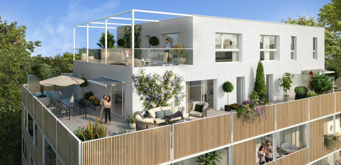 Vue de synthèse de la résidence Le Parc Émeraude à Vannes par Immo Golfe Bretagne