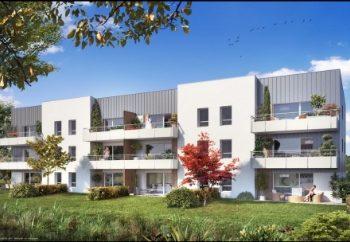 Vue de synthèse de la résidence Le Parc du Manoir 2 à Plescop par Immo Golfe Bretagne