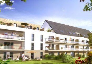 Vue de synthèse de la résidence Le Parc de Kerfanny à Auray par Immo Golfe Bretagne