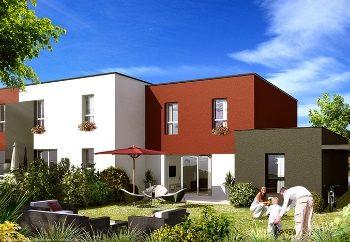 Vue de synthèse de la résidence Les Villa Pieris à Plescop par Immo Golfe Bretagne