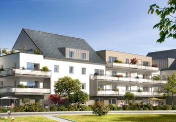 Vue de synthèse de la résidence Groix à Auray par Immo Golfe Bretagne