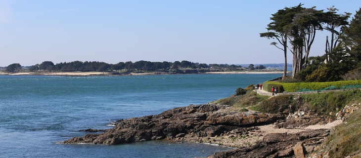 Photographoie du sentier littoral de Damgan