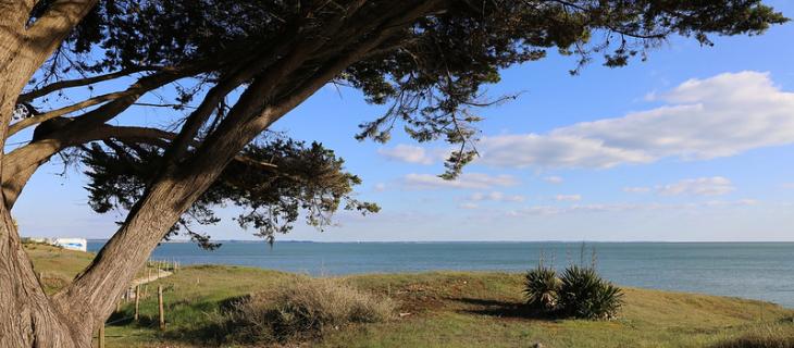 photographie du bord de mer de Damgan